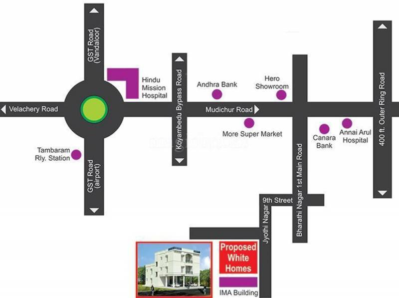 Images for Location Plan of Lakshmi White Homes