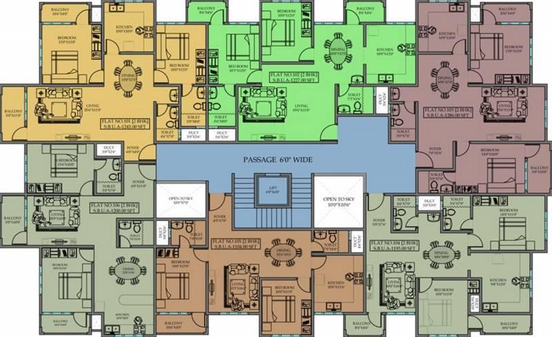 Images for Cluster Plan of Priyadarshini Krishna Residency