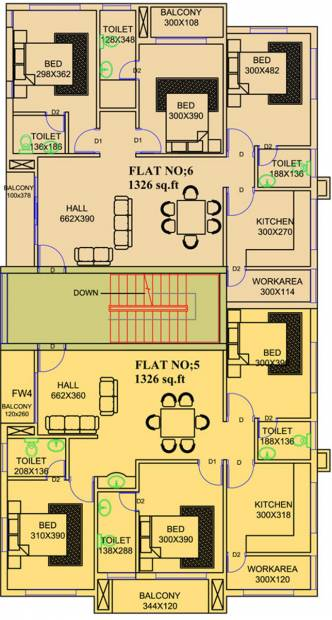 unidesign-builders-and-developers-pvt.-ltd. chandra Chandra Cluster Plan for 2nd Floor