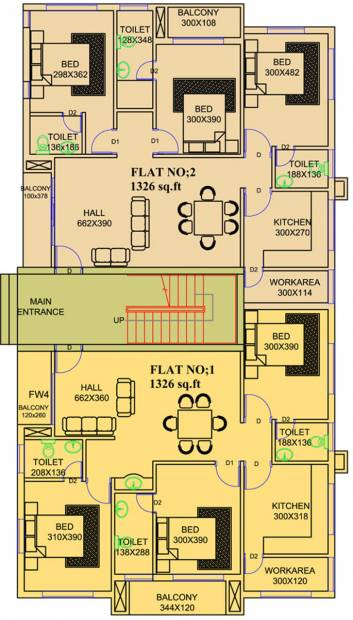 unidesign-builders-and-developers-pvt.-ltd. chandra Chandra Cluster Plan for Ground Floor