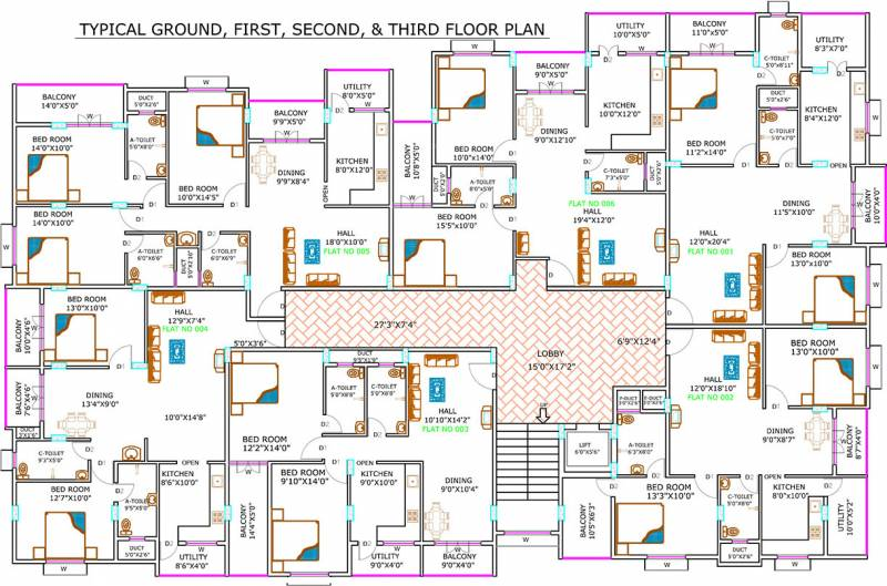 Images for Cluster Plan of Srinidhi Apartments