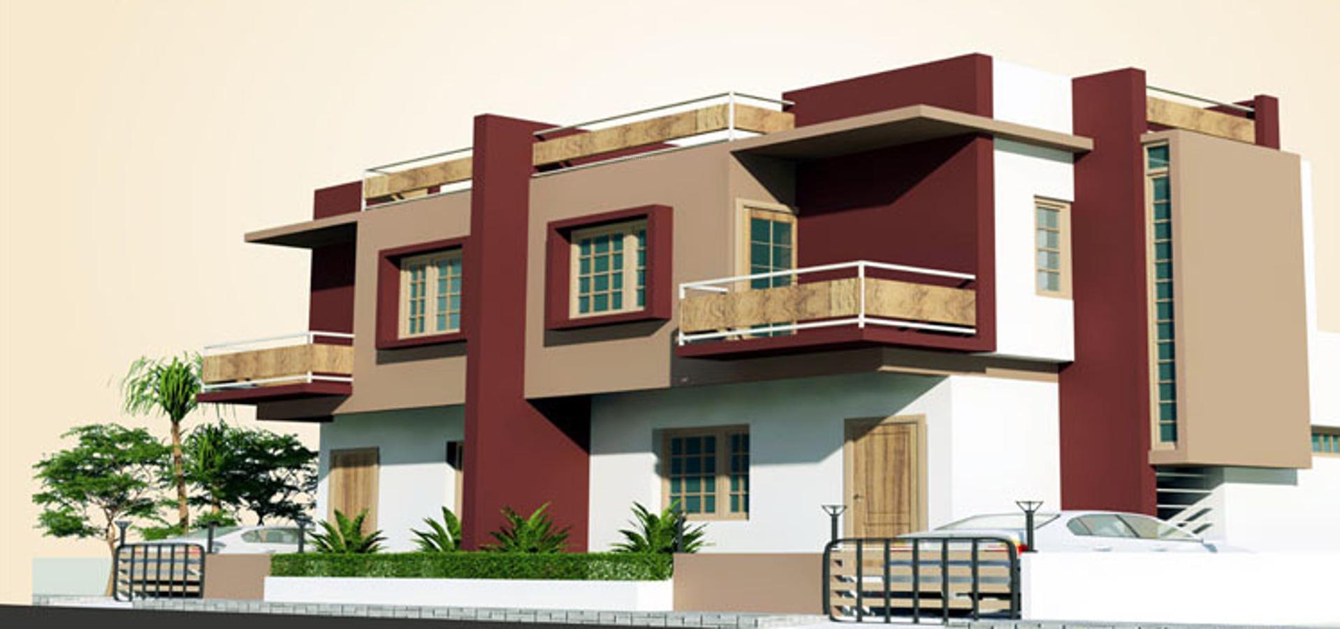 Aakruti duplex in makarpura vadodara price location for Duplex bungalow elevation