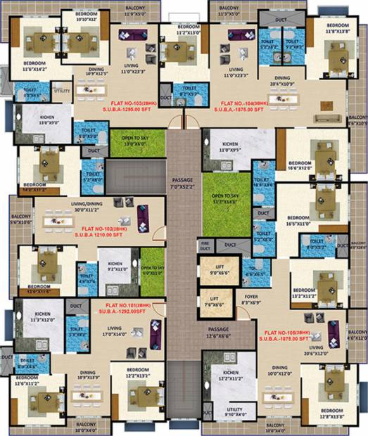 Images for Cluster Plan of Sankhya Heights