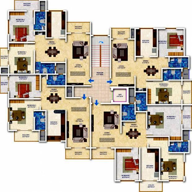 Images for Cluster Plan of Sankhya Heritage