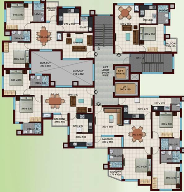 crescent-builders iris  Iris Cluster Plan from 2nd to 9th Floor