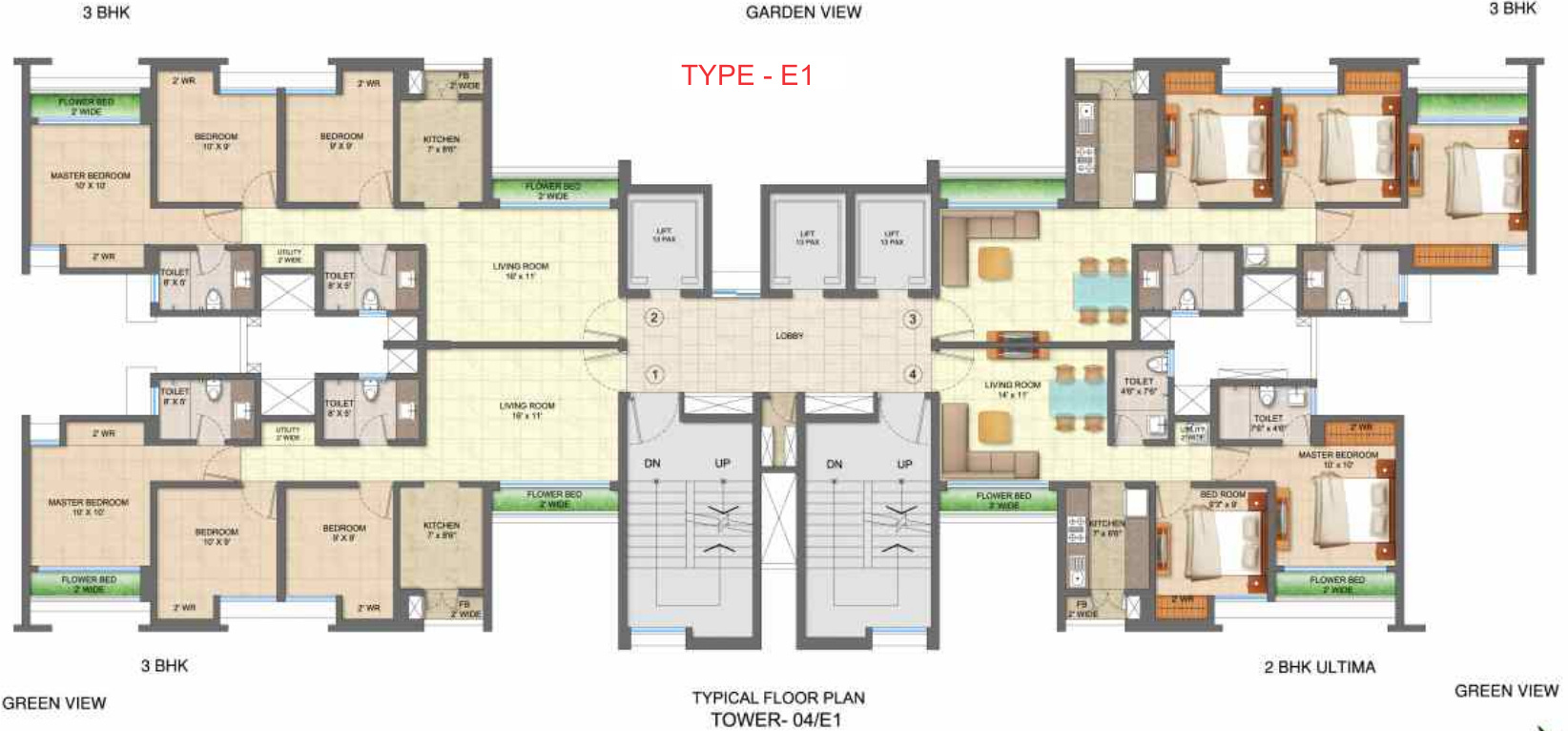 665 sq ft 1 bhk 2t apartment for sale in runwal realty for Walk up apartment floor plans