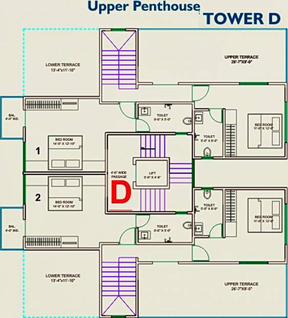 Images for Cluster Plan of Lilleria Apartments I And II