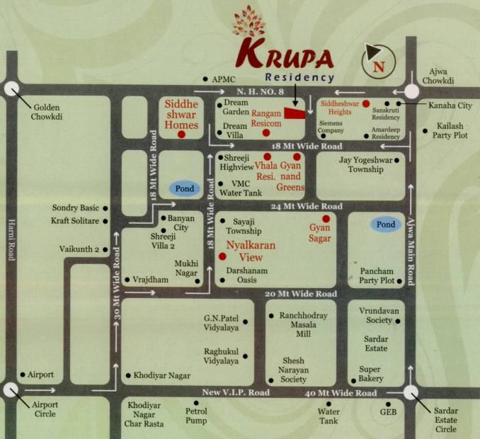 Images for Location Plan of Sakar Krupa Residency
