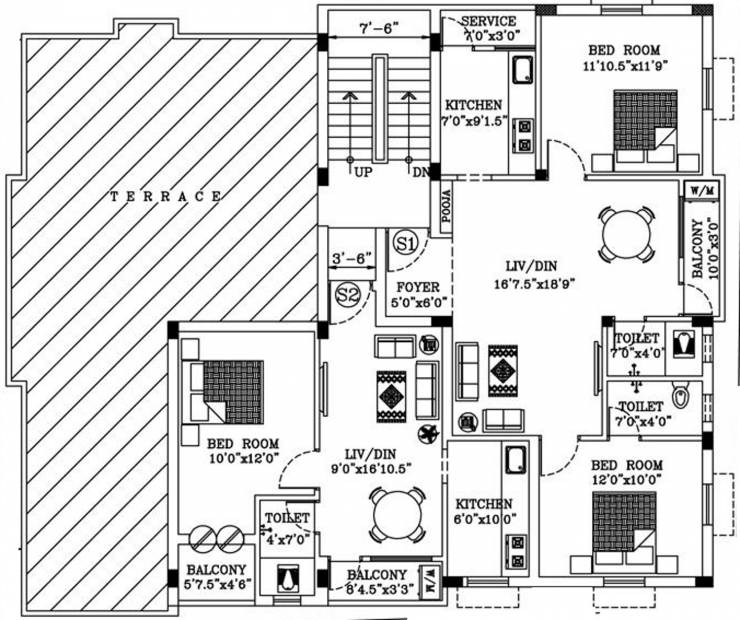 Images for Cluster Plan of AA Construction Saral Flats