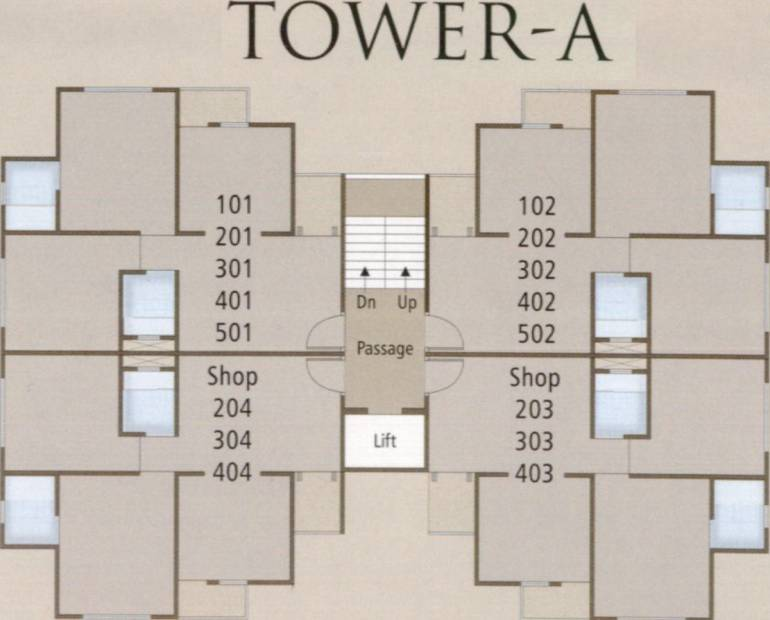 Images for Cluster Plan of Shivam Eshanti Height