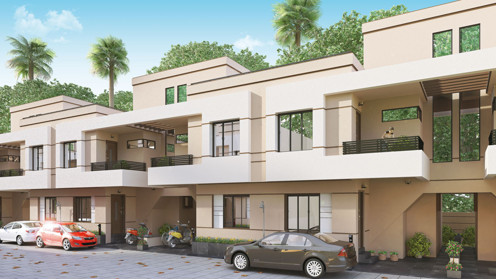 Wood In Elevation : Sq ft bhk t villa for sale in om sai developer