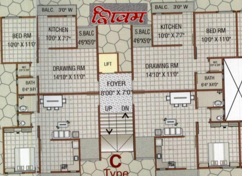 Images for Cluster Plan of M R Construction Vadodara Omkaar Greens
