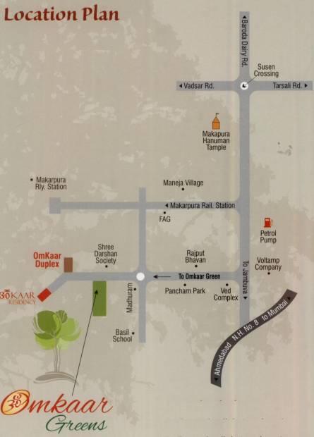 Images for Location Plan of M R Construction Vadodara Omkaar Greens