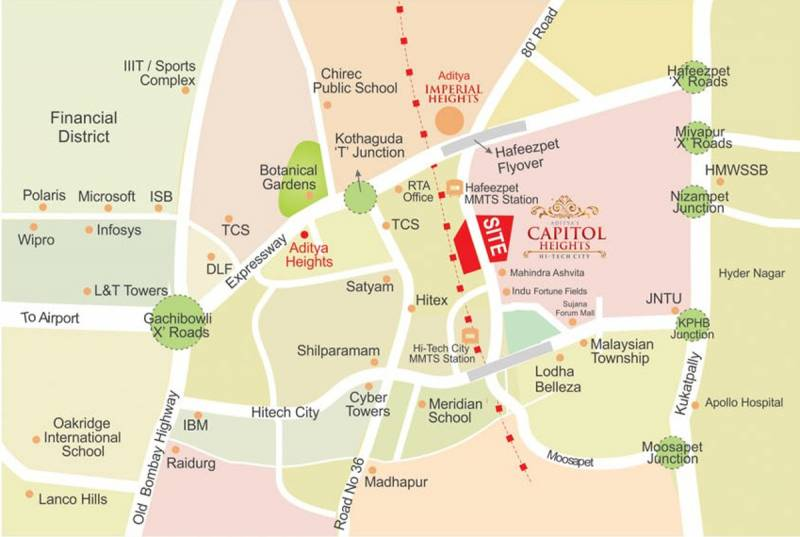 Images for Location Plan of Aditya Capitol Heights