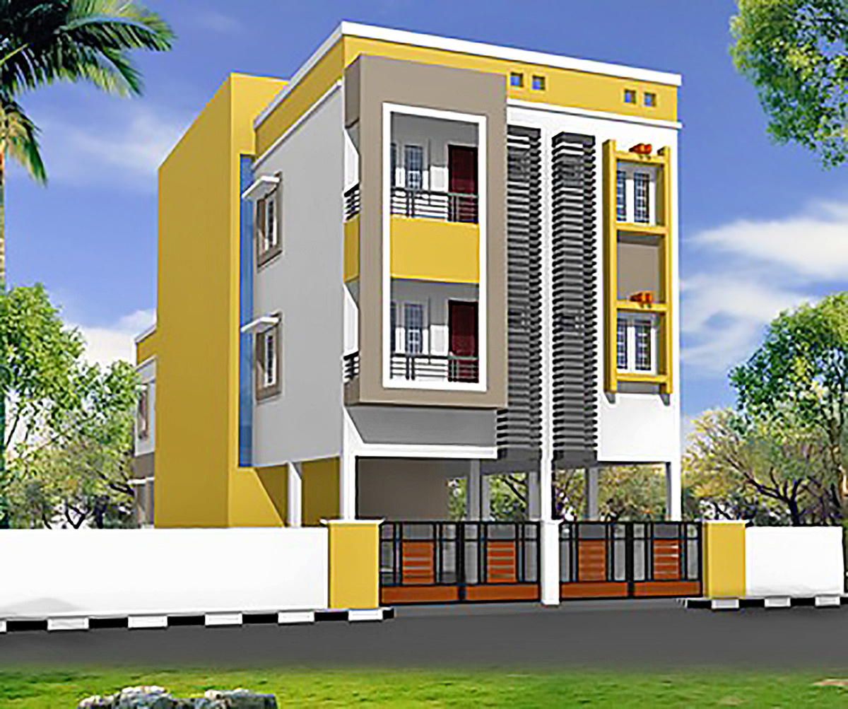 Front Elevation House Colours : Bhk cluster plan image cc builders colors for sale