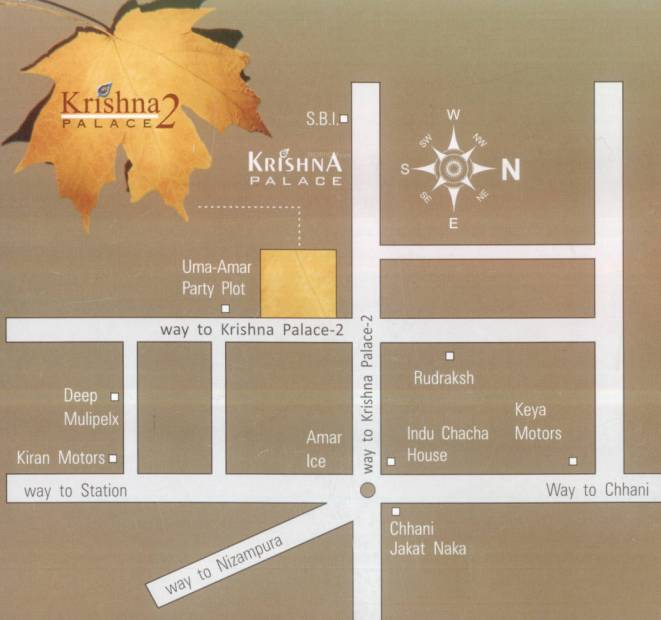 amar-synergy krishna-palace-2 Location Plan
