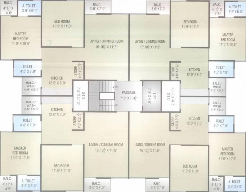 Images for Cluster Plan of Ashish Omkara Residency
