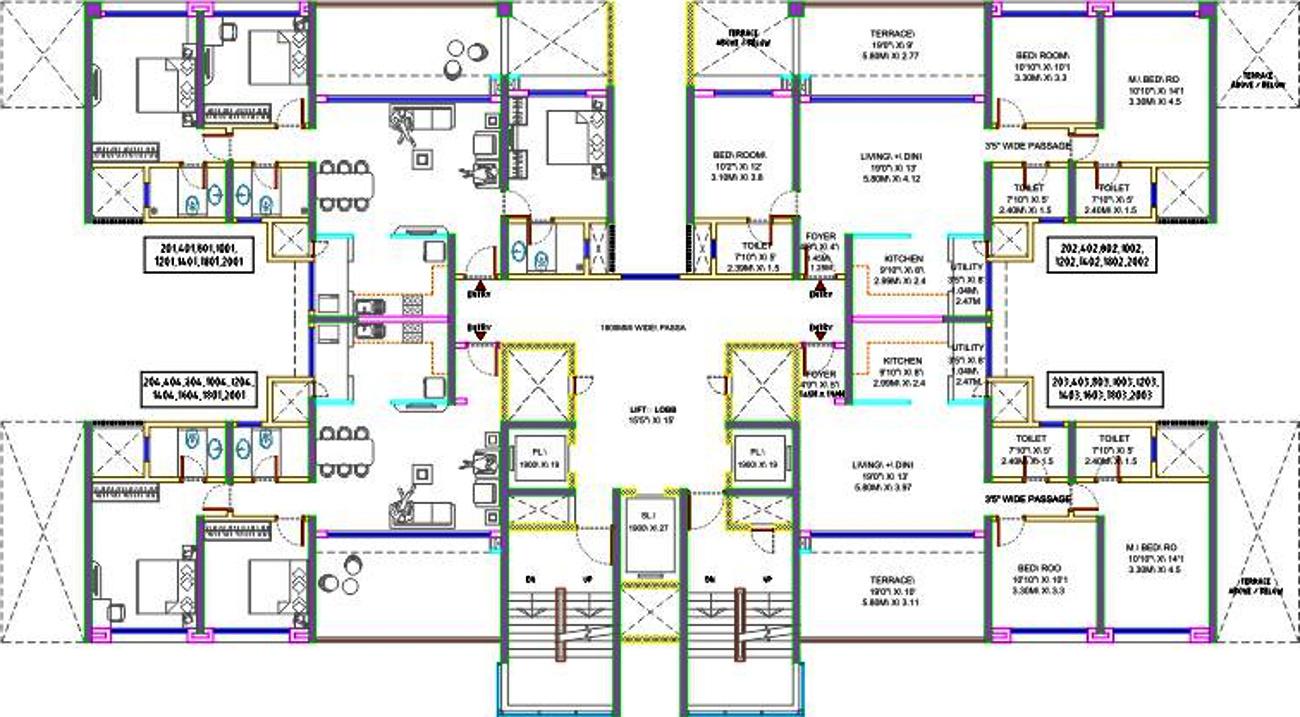 1614 sq ft 3 bhk 3t apartment for sale in bu bhandari casa for Apartment plans bu