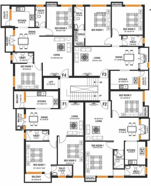 Images for Cluster Plan of Arjun Meera Reena Garden