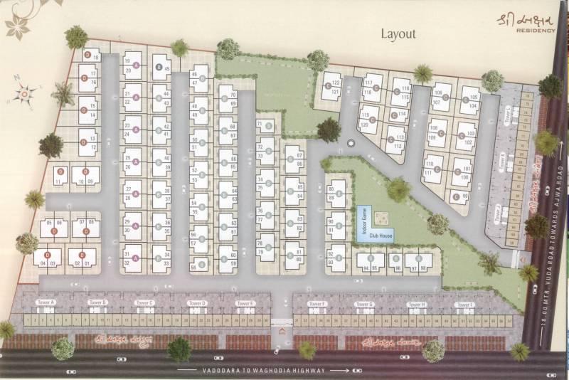 Images for Layout Plan of Yogi Shree Akshar Residency