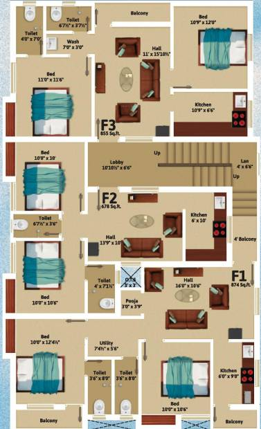 Images for Cluster Plan of KVR Builders Sri Vrikshah