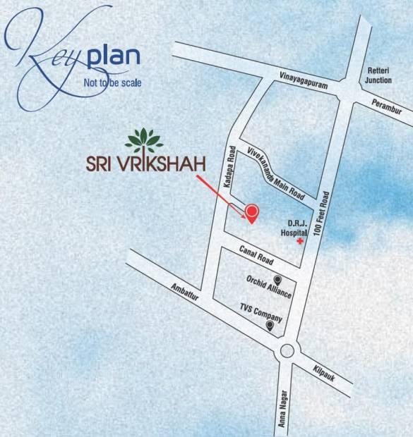 Images for Location Plan of KVR Builders Sri Vrikshah