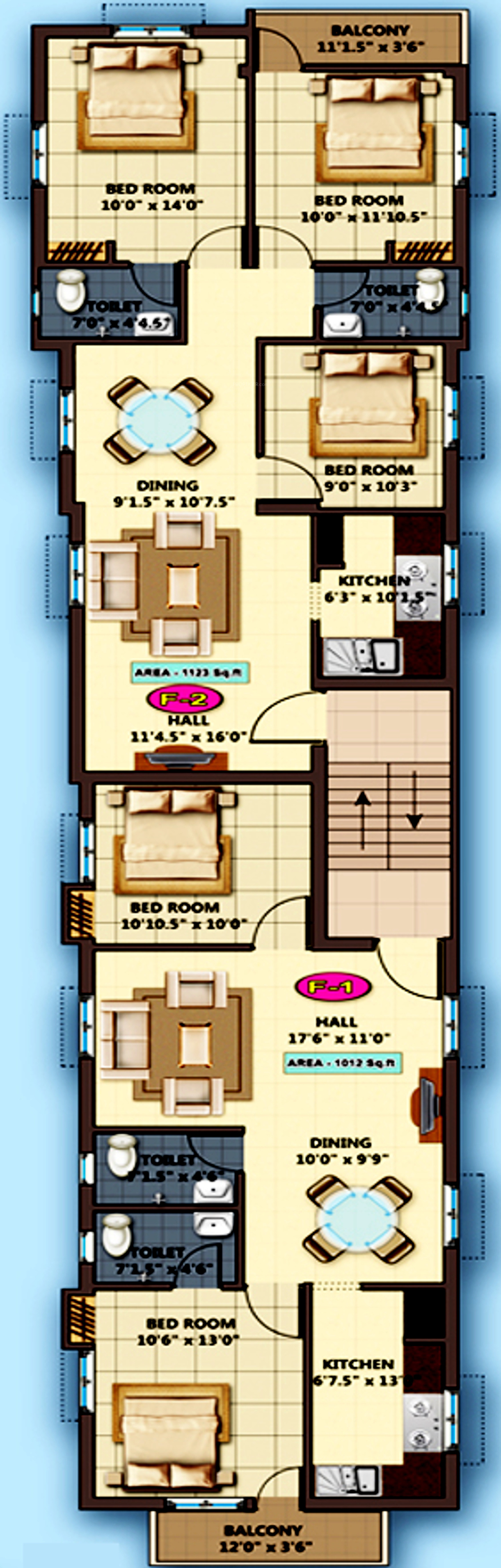 1124 Sq Ft 3 Bhk 2t Apartment For Sale In Sarvajith Royal