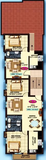 Images for Cluster Plan of Sarvajith Royal Castle