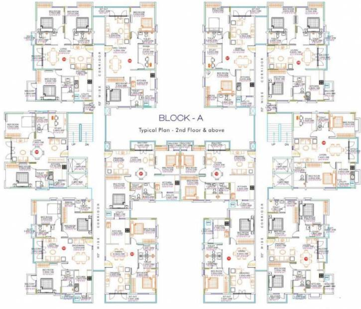clear-title-properties cordelia Block A1 Cluster Plan from 2nd to 11th Floor