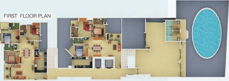 nutech-constructions cherubs-skyvillas Cherubs Skyvillas Cluster Plan for 1st Floor