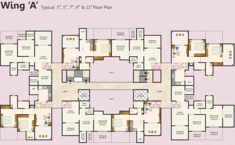 Images for Cluster Plan of Omkar Namrata Gloria