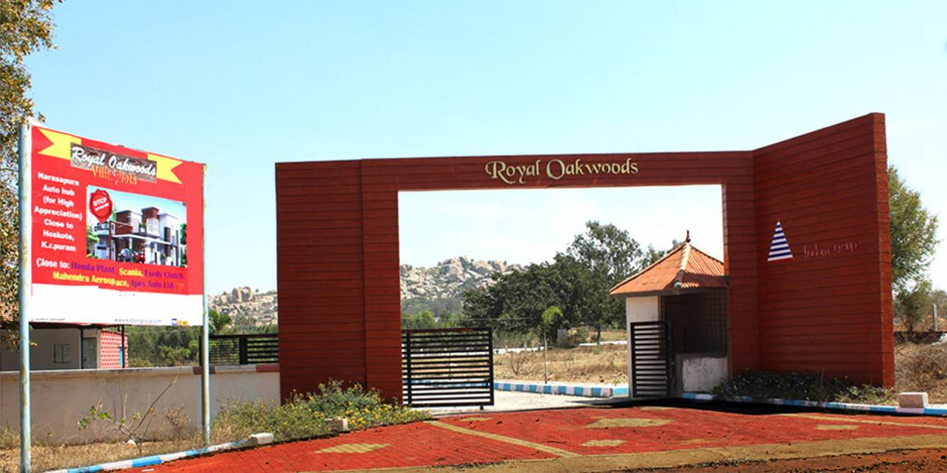 Wood Elevation Network : Sq ft plot for sale in kadam group royal oak woods