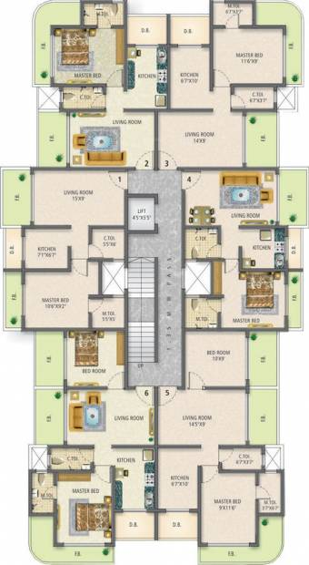 Images for Cluster Plan of Jet Sai Residency