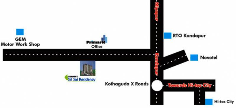 primark-projects sri-sai-residency Location Plan