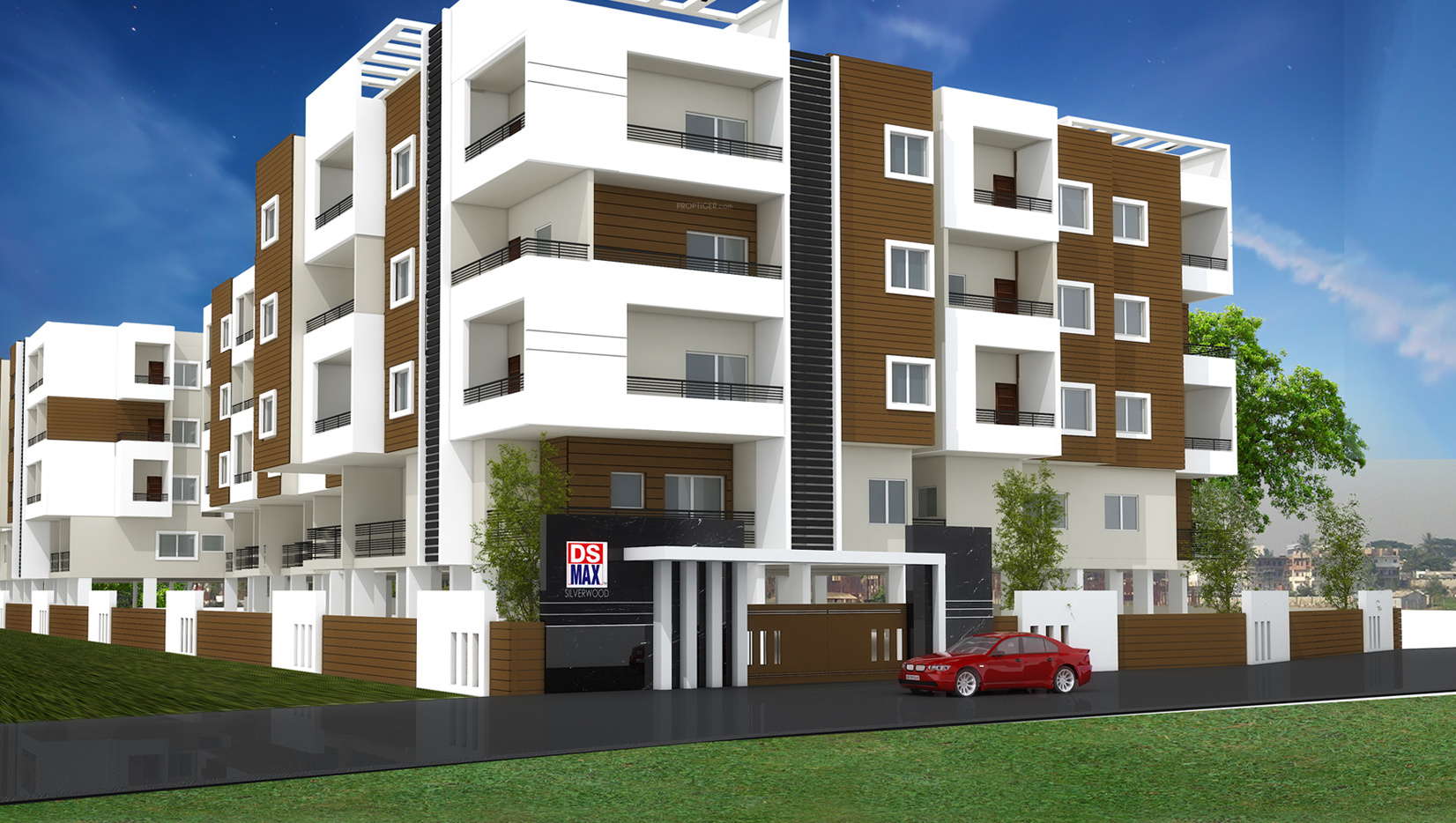 Wood Elevation U : Sq ft bhk t apartment for sale in ds max