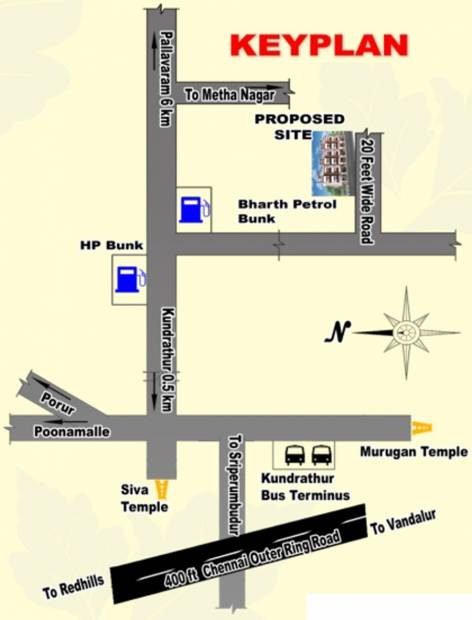 Images for Location Plan of Saravana Diamond Pearl and Coral