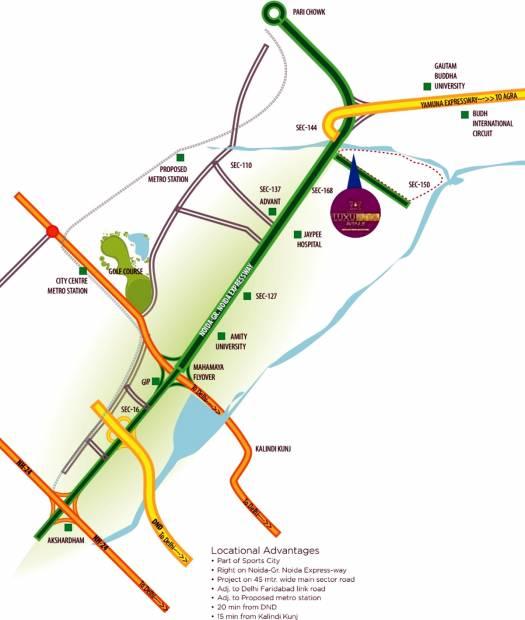 Images for Location Plan of Samridhi Luxuriya Avenue