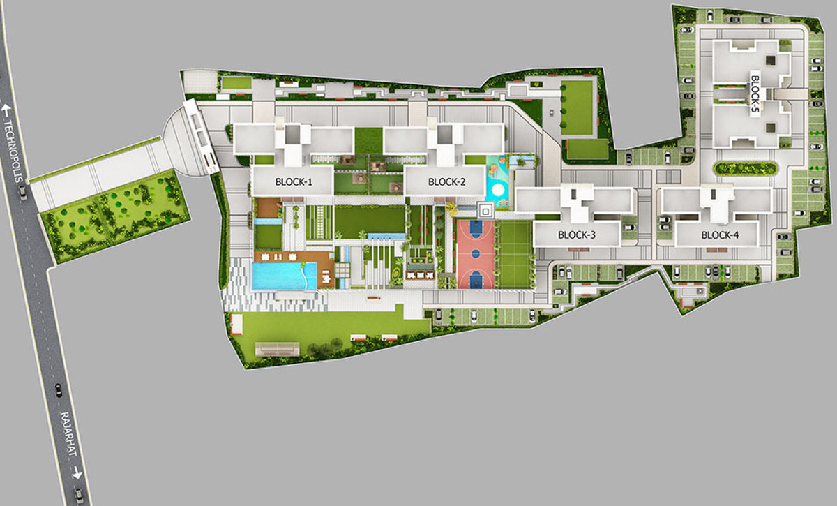 1327 sq ft 3 BHK 3T Apartment for Sale in Merlin Group 5th