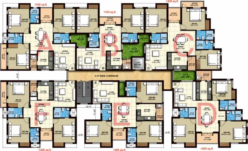 thiruvanmyur-h38 Images for Cluster Plan of Kgeyes Thiruvanmyur H38