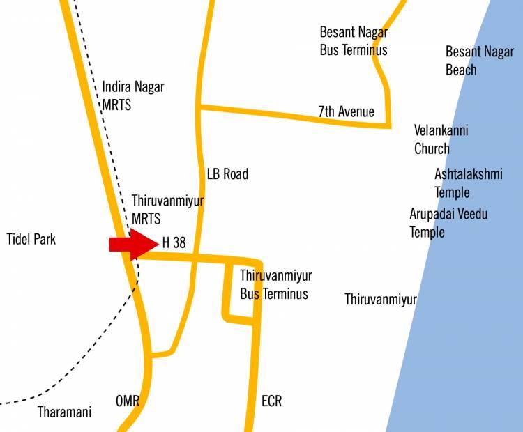 thiruvanmyur-h38 Images for Location Plan of Kgeyes Thiruvanmyur H38