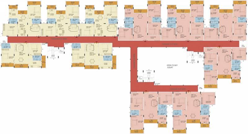nu-tech-prasiddhi-consotrium commanders-pinnacle Commanders Pinnacle Cluster Plan from 1st to 7th Floor