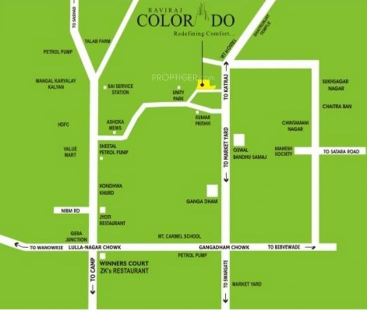 Images for Location Plan of Raviraj Realty Colorado Villas