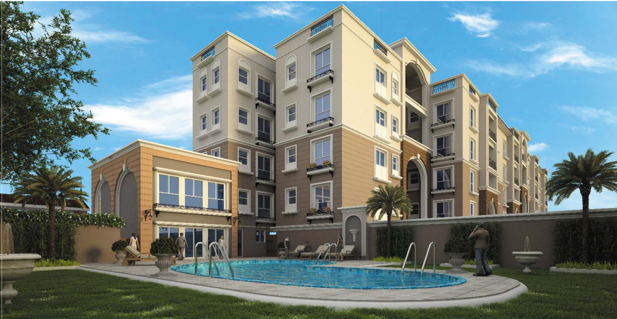 1781 sq ft 3 bhk 3t apartment for sale in global habitat for Casa bella
