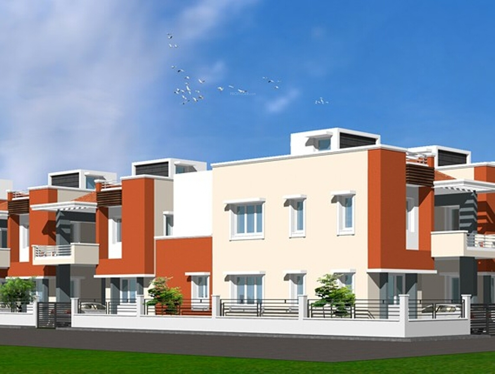 1804 sq ft 3 bhk 3t villa for sale in kk builders chennai for Villa elevation photos