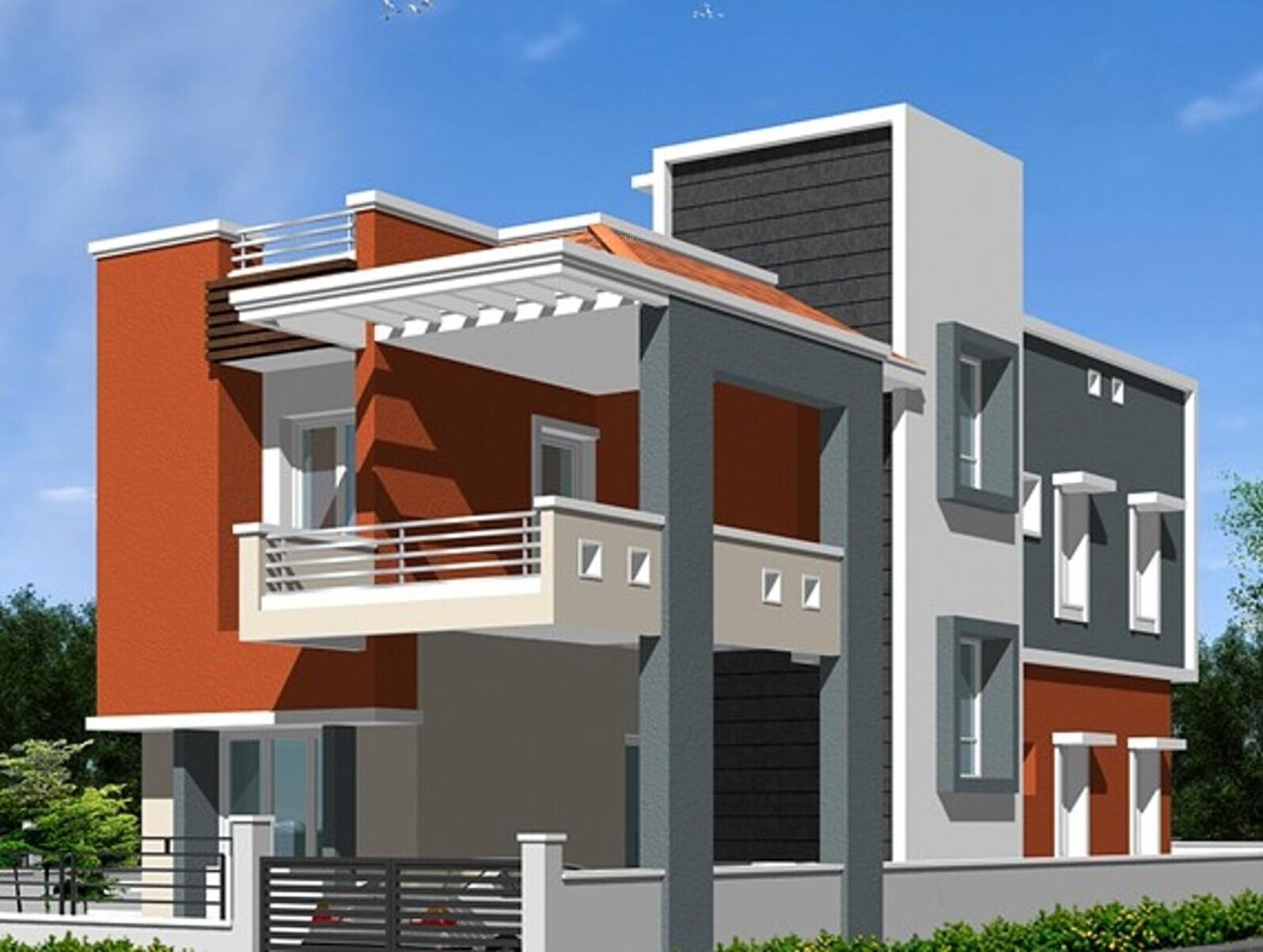 Front Elevation Design Chennai : Main elevation image of kk builders chennai shanthi
