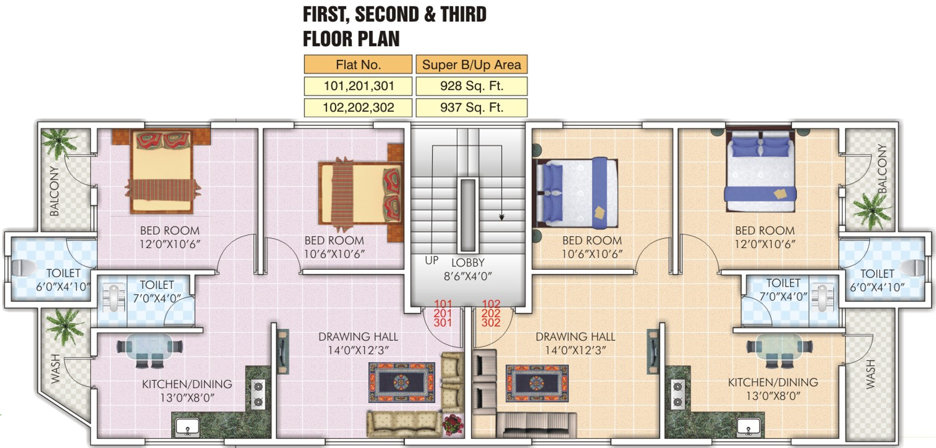 937 Sq Ft 2 Bhk 2t Apartment For Sale In R S Construction