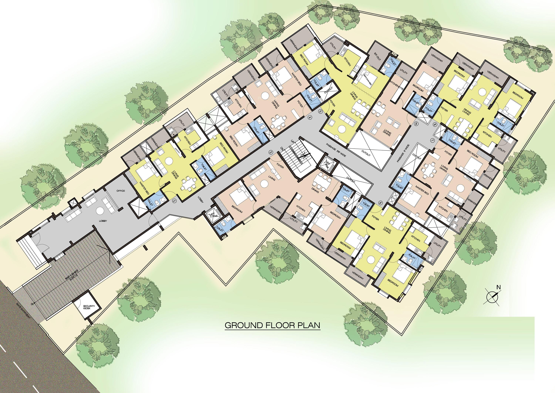675 sq ft 1 bhk 1t apartment for sale in landmark for 675 sq ft floor plan