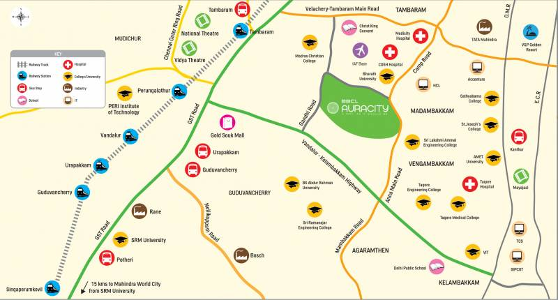 Image of location map of bbcl auracity east tambaram chennai images for location plan of bbcl auracity gumiabroncs Gallery