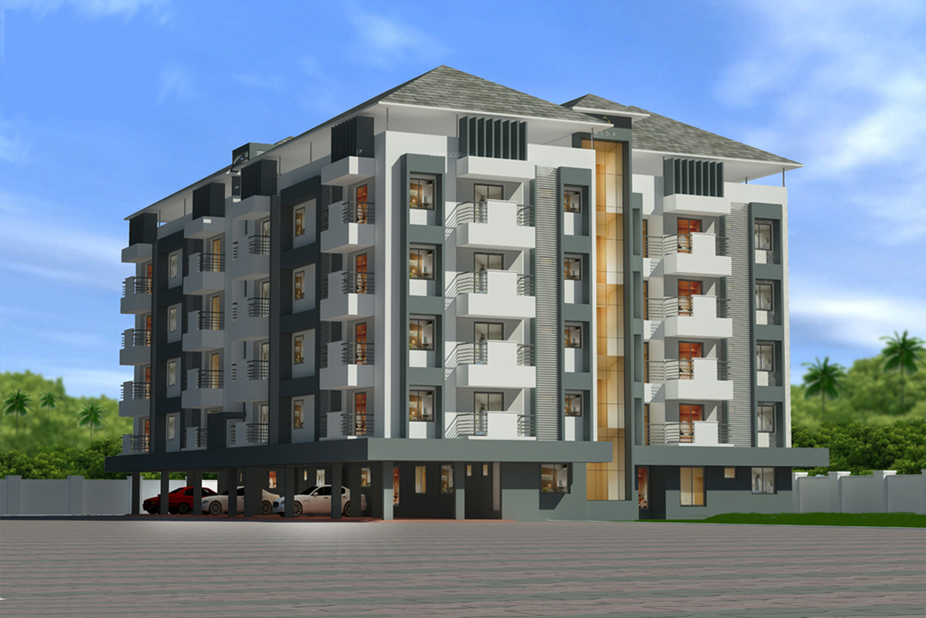 Main elevation image of alba homes monarch unit available for Monarch house