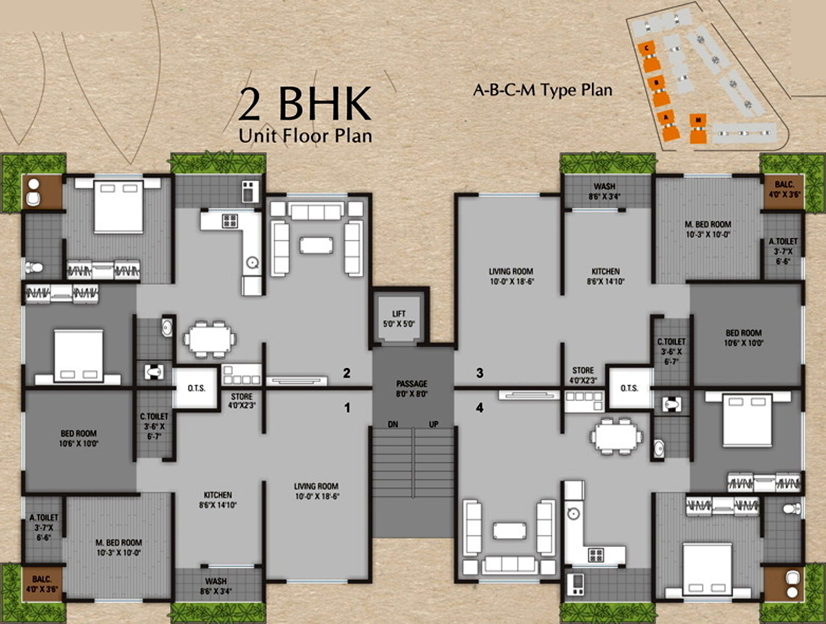 1500 sq ft 3 bhk 3t apartment for sale in sun realtors for Floor plans for realtors